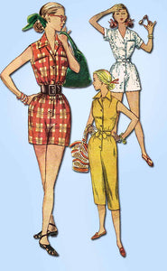 1950s Vintage Simplicity Sewing Pattern 4337 Uncut Misses 1 Pc Coveralls Size 12