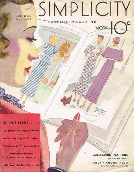 Digital Download E-Book Simplicity Summer 1930s Catalog 43 Pages Color Pictures