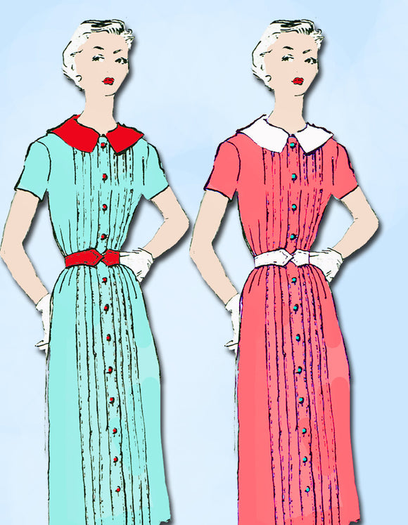 1950s Designer Spadea Sewing Pattern 1246 Uncut Brigance Misses Dress 36.5 B