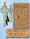 1920s Vintage Standard Designer Sewing Pattern 8702 Misses Flapper Dress Sz 36 B - Vintage4me2