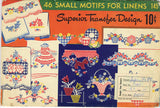 1930s Vintage Superior Embroidery Transfer 145 Uncut 46 Small Gingham Motifs