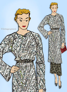 Superior 170: 1930s Stunning Misses Tunic Dress Size 34 B Vintage Sewing Pattern