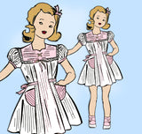 Fairloom Superior 6150: 1940s Toddler Girls Dress Size 3 Vintage Sewing Pattern  - Vintage4me2