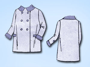 1930s Vintage Superior Sewing Pattern 7803 Toddler's Double Breasted Coat Size 2 - Vintage4me2