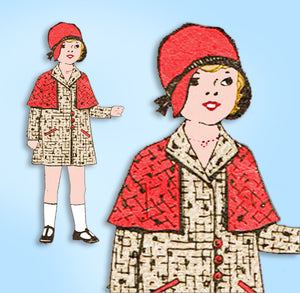 1930s Original Vintage Superior Sewing Pattern 9214 Cute Baby Girls Coat Size 2 -Vintage4me2