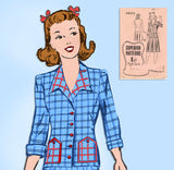 1940s Vintage Superior Sewing Pattern 9623 Charming Misses WWII Suit Sz 34 Bust - Vintage4me2