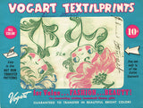 1950s Vintage Vogart Textilprint 75 Uncut Flower Face Gals NO Sew Color Transfer