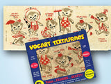 1950s Color Vintage Vogart 426 Party Bears Uncut Orignal No Sew Transfer
