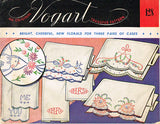 1950s Floral His & Hers Pillowcase Embroidery Uncut Vogart 128 Hot Iron Transfer - Vintage4me2