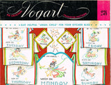 1950s Vintage Vogart Embroidery Transfer 238 Uncut Kitchen Angel DOW Tea Towels