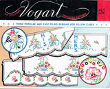 1950s Vintage Vogart Embroidery Transfer 287 Uncut Easy His & Hers Pillowcases -Vintage4me2