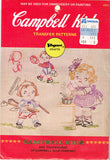 1960s Vintage Vogart Embroidery Transfer 4103 Uncut Campbell Kids Chores Motifs