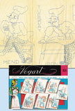 1950s Vintage Vogart Embroidery Transfer 654 Comic French Chef Tea Towels Uncut