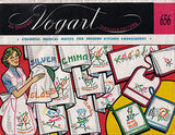 1950s Vintage Vogart Embroidery Transfer 656 Anthro Dishes Tea Towels Uncut ORIG
