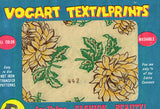 1950s Color Vintage Vogart Textilprint 442 Sunflowers Uncut Hot Iron Transfer