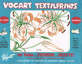 1950s Four Color Vintage Vogart Textilprint 46 Tigerlily Hot Iron Transfer ORIG