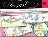1950s Vintage Vogart Embroidery Transfer 614 Uncut Charming Lamb Pillowcases