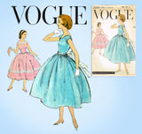1950s Vintage Vogue Sewing Pattern 1568 Uncut Easy Girls Party Dress Sz 14 34B - Vintage4me2