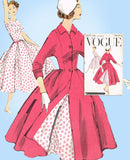 1950s Vintage Vogue Sewing Pattern 1571 Uncut Misses Dress and Coat Size 36 Bust