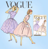 1950s Vintage Vogue Sewing Pattern 1574 Uncut Girls Shirtwaist Dress Sz 10 30B - Vintage4me2
