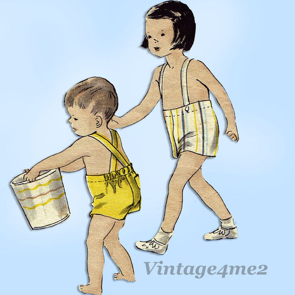 Vogue 2547: 1940s Toddler Boys Shirt & Shorts Sz 2 Vintage Sewing Pattern