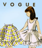 Vogue 2677: 1950s Uncut Girls Petticoat & Slip Sz 12 Vintage Sewing Pattern - Vintage4me2