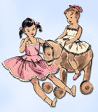 1950s Vintage Vogue Sewing Pattern 2727 Toddler Girls Crinoline Petticoat Size 3