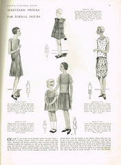 1920s Original Vintage Vogue Pattern 2764 Rare Teen Girls Flapper Dress Size 14