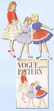1950s Vintage Vogue Sewing Pattern 2818 Uncut Girls Dress Bolero Apron Size 6