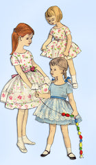 1960s Vintage Vogue Sewing Pattern 2907 Toddler Girls Dress and Apron Size 4