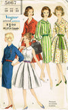 1960s Vintage Vogue Sewing Pattern 5067 Misses Rockabilly Dress Size 10 31 Bust -Vintage4me2