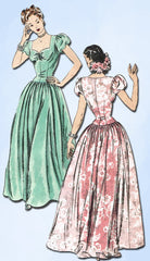 1940s Vintage Vogue Sewing Pattern 5376 Gorgeous Misses Wedding Dress Size 30B