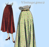 Vogue 6521: 1950s Easy Misses Skirt Sz 24 Waist Vintage Sewing Pattern