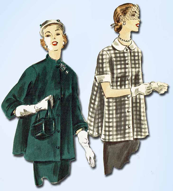 1950s Vintage Vogue Sewing Pattern 7427 Misses Maternity Jacket or Blouse 28-30B