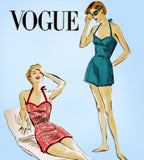 1950s Original Vintage Vogue Sewing Pattern 7677 Misses Uncut Bathing Suit 34 B