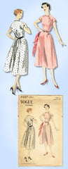 1950s Original Vintage Vogue Pattern 7687 Uncut Misses Easy Cinched Dress Sz 34B
