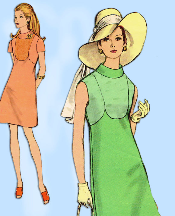 1960s Vintage Vogue Sewing Pattern 7741 Misses Mod Dress Size 34 Bust