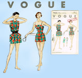 1950s Original Vintage Vogue Sewing Pattern 7860 Uncut Misses Bathing Suit 34 B