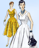 1950s Original Vintage Vogue Sewing Pattern 8258 Misses Princess Sun Dress 30 B