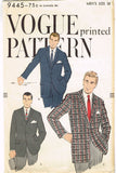 1950s Vintage Vogue Sewing Pattern 9445 Men's Sports Coat or Jacket Sz 38 Chest