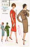 1950s Vintage Vogue Sewing Pattern 9636 Midcentury Modern Misses Suit Sz 14 34B