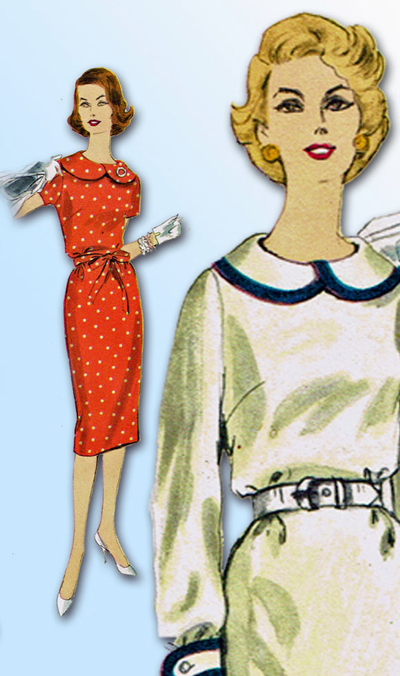 Vogue 9894: 1950s Misses Dress Sz 32 Bust Original Vintage Sewing Pattern - Vintage4me2