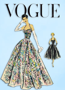 1950s Vintage Vogue Special Design Sewing Pattern S-4751 Misses Evening Gown 36B