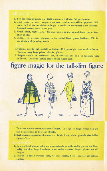 "1960s Vogue ""Making Magic with Fashion"" 8 Page Fashion Tips Booklet"