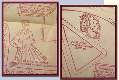 1940s Original Uncut Workbasket Embroidery Transfer 63 Hobby Horse & More