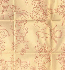 1940s Workbasket Embroidery Transfer #82 Uncut Helpful Miss Tea Towels & More