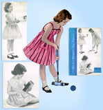 Women's Day 5037: 1950s Vintage Sewing Pattern Girls Sundress Size 10 Darling Lines Vintage4me2