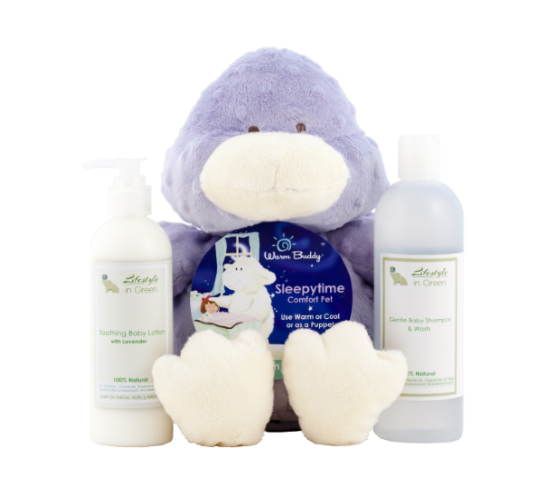 Gift package - Lotion, Wash and a warm buddy ducky