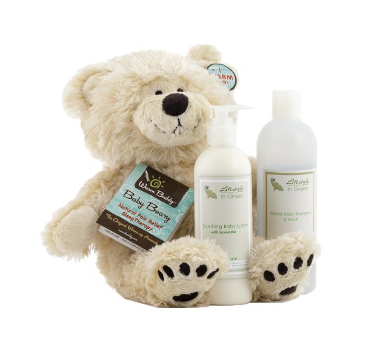Gift package - Lotion, Wash and a warm buddy bear