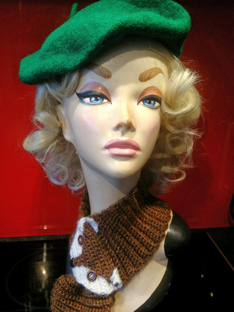 Soft Acrylic Wool Beret in Emerald Green
